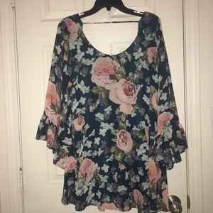 Fannie Flow mini dress with scoop back NWOT